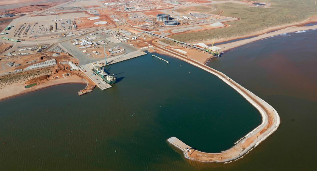 Overview of Wheatstone project from the sky
