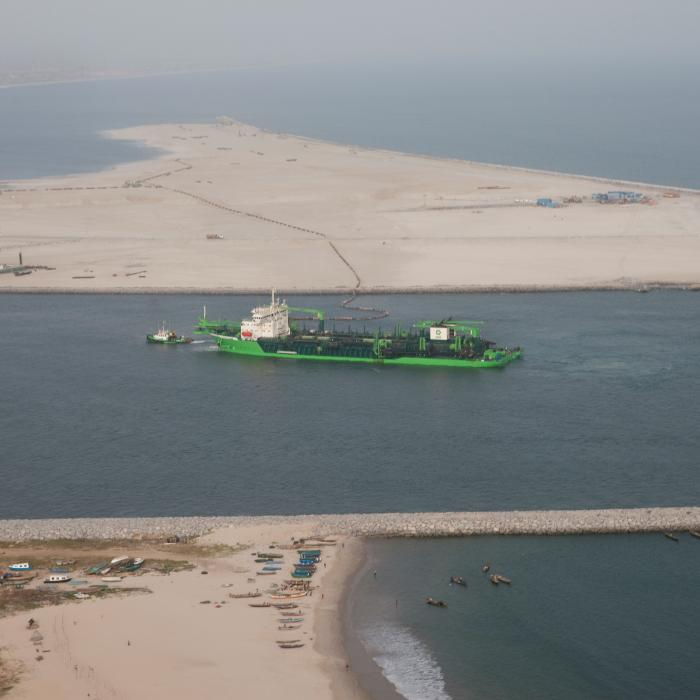 Congo River (Trailing Suction Hopper Dredger) on Eko Atlantic City project