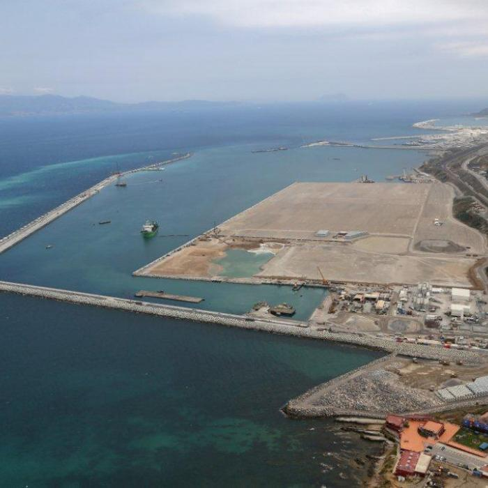 Overview of the port of Tanger