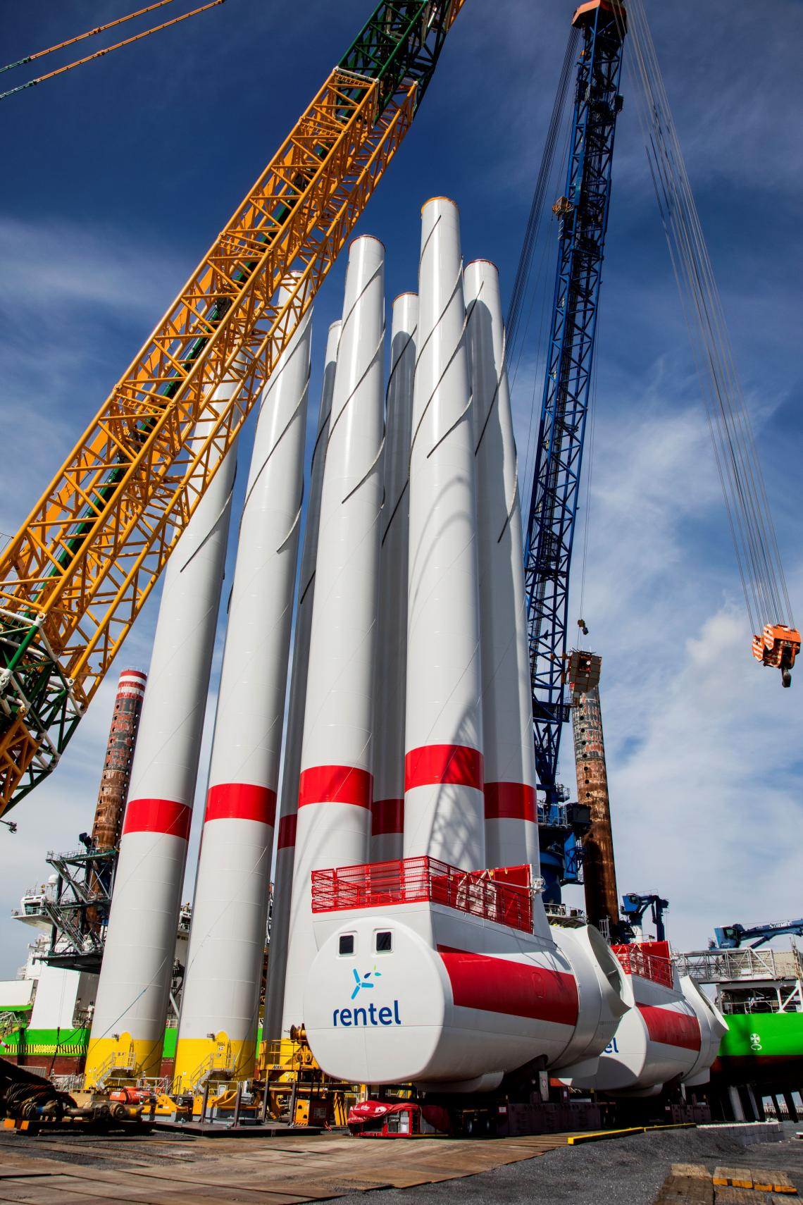 Pipes for Rentel Offshore wind farm